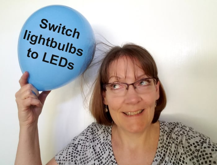 Save energy selfie to encourage others to save around the house.