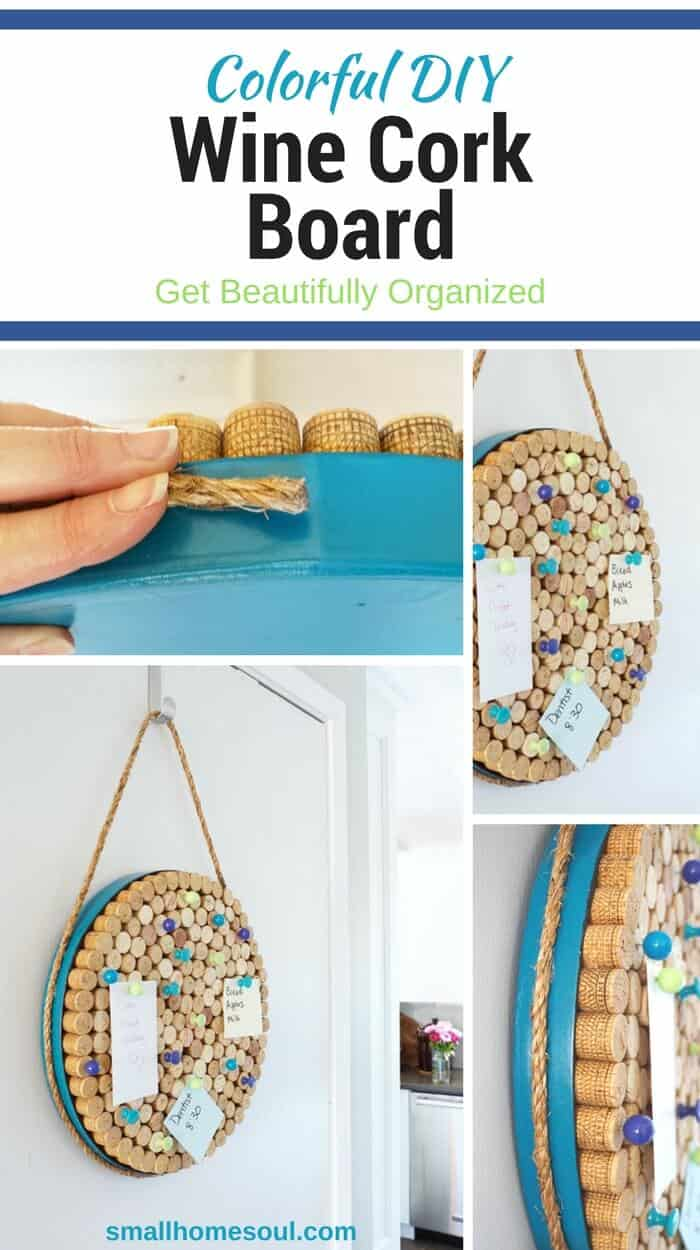 Pin this DIY Wine Cork board to your favorite organization board for inspiration.