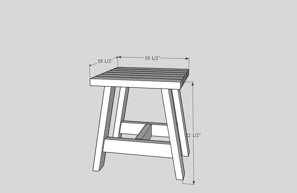 2x4 Outdoor Table design drawings.