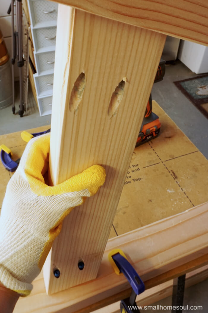 2x4 Outdoor Table leg assembly.