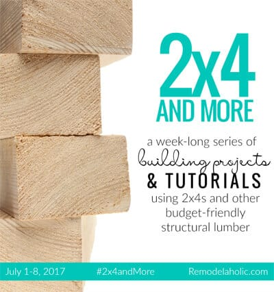 2x4 Outdoor Table participated in the Remodelaholic 2x4 and more challenge.