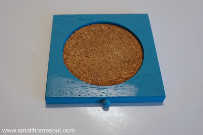 Protecting drink coasters with hemp oil.