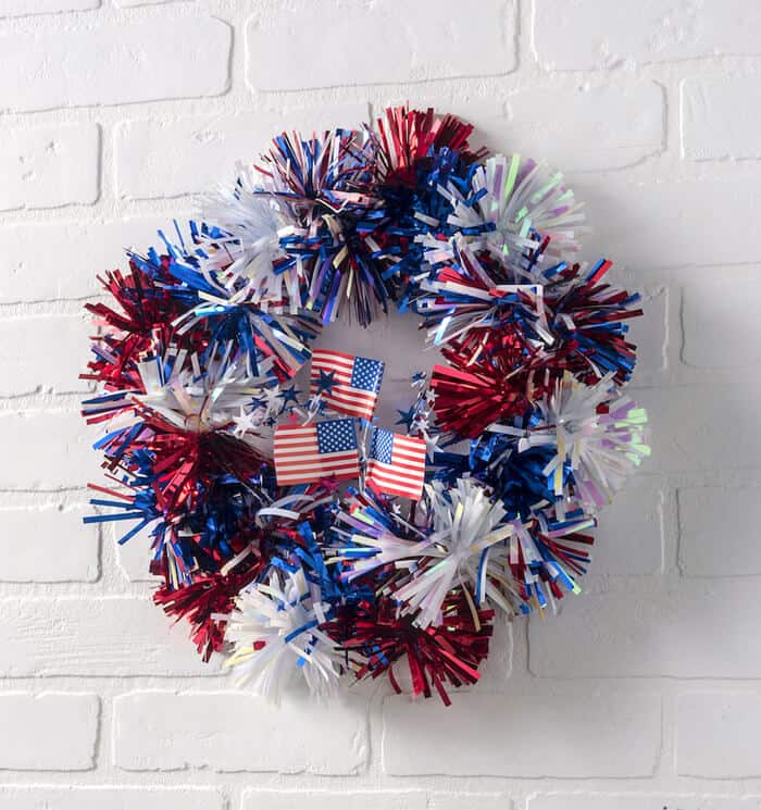 DIY Candy's Easy Patriotic Wreaths in Shimmery Goodness.