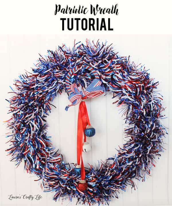 Laura's Crafty Life's Easy Patriotic Wreaths in shimmery goodness.