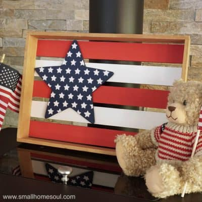 July 4th Star Tray with a Homemade Stencil