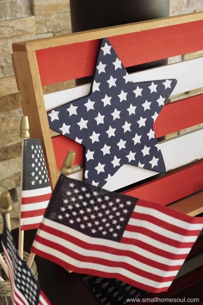 Closeup of July 4th Star Tray.
