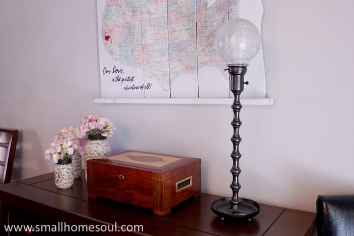 Paint over that crusty brass lamp into a stunning new light for home or office.