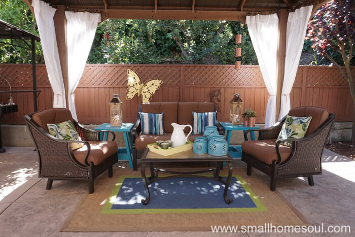 Updated seating area in my relaxing backyard retreat