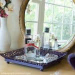 DIY Mirrored Jewelry Tray - Easy Picture Frame Upcycle