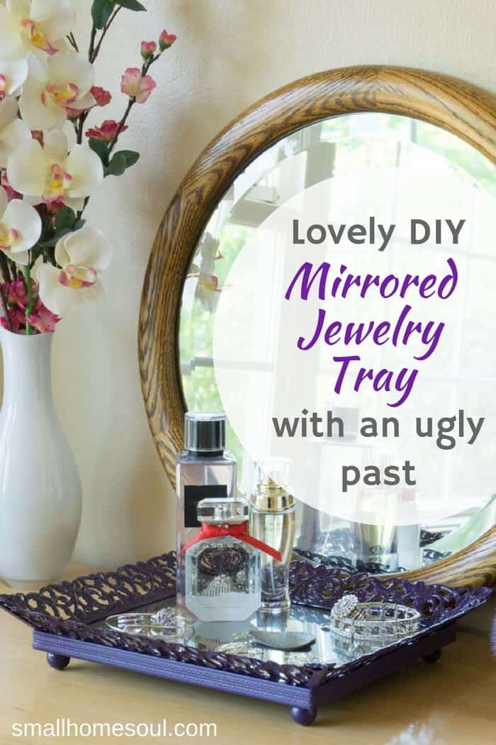 Make a beautiful Jewelry Tray from an old picture frame. Use it in your bedroom, bathroom, or living room with candles.