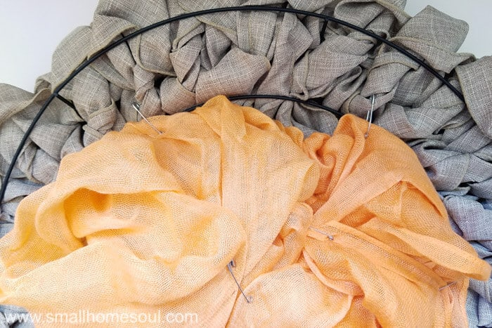 Use safety pins on the wreath for temporary fall decor updates. Fall wreath pumpkin wreath.