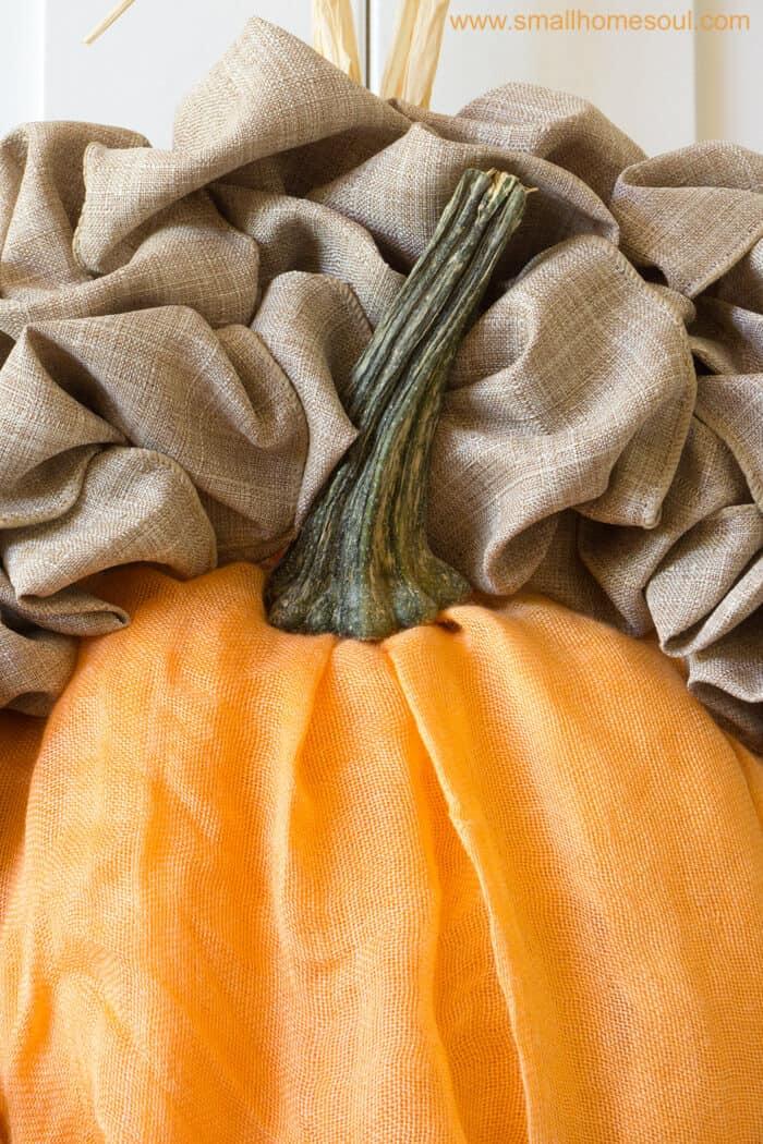 Use an old pumpkin stem for Fall decor updates. Fall wreath pumpkin wreath.