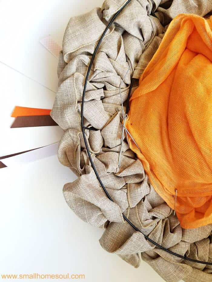 Tying the wires of the picks makes seasonal wreaths easy fall decor updates a breeze. Fall wreath pumpkin wreath.