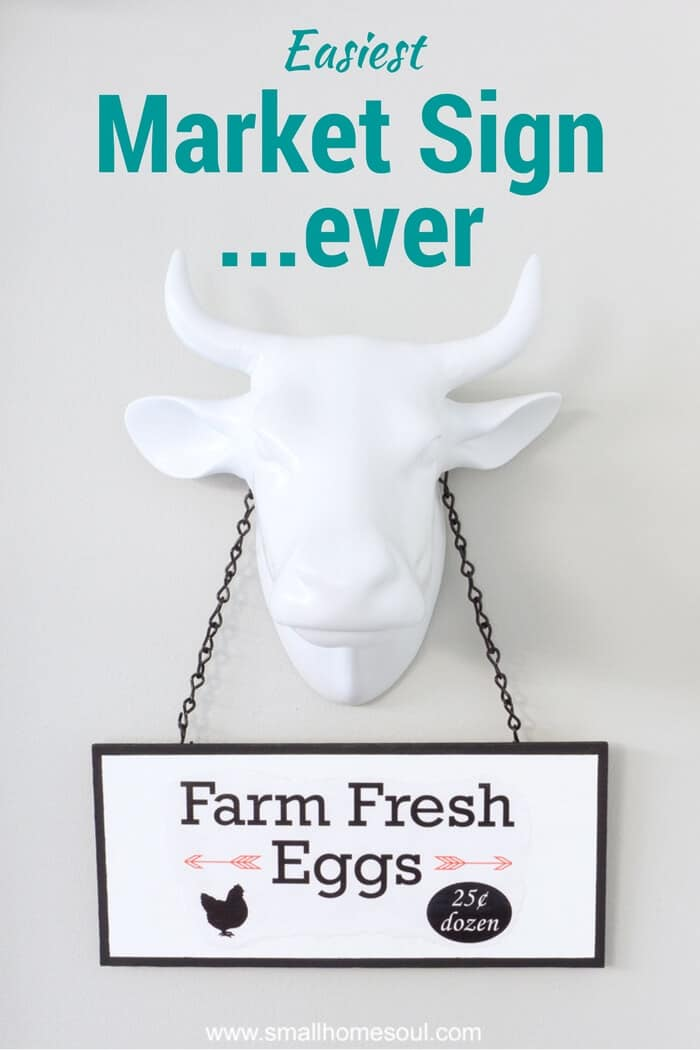 Farm Fresh Egg Easy DIY Market Sign.