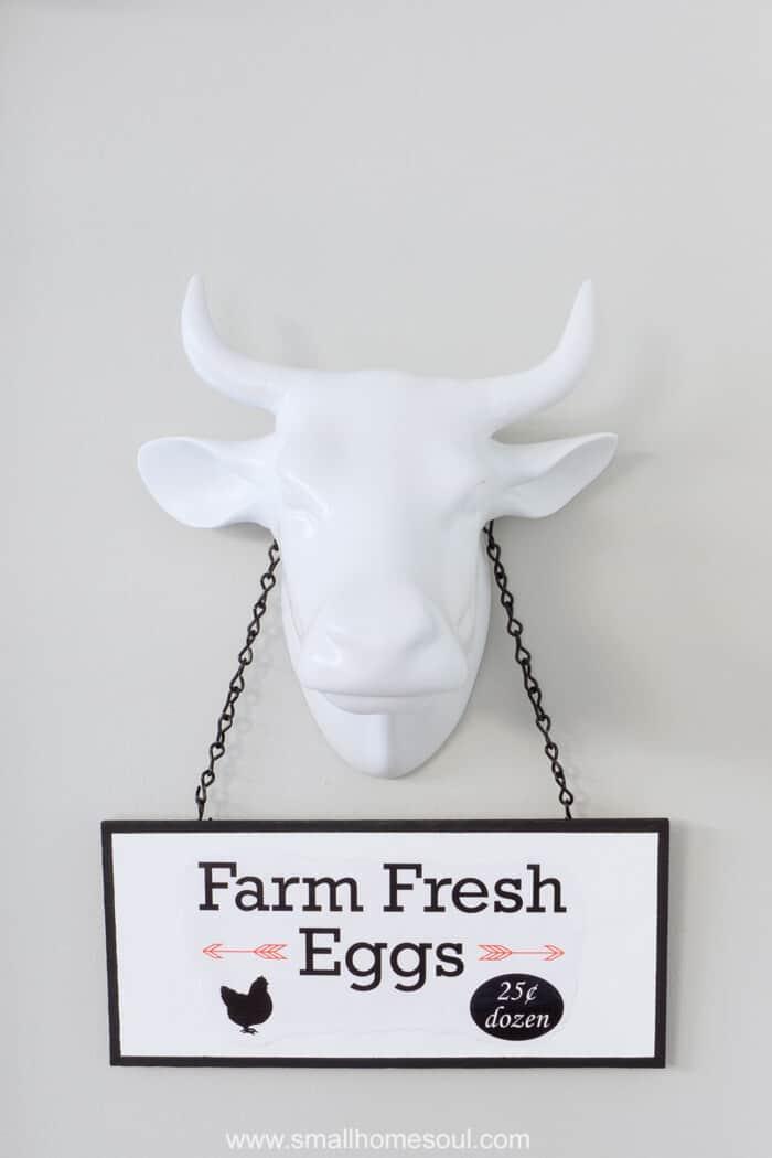 DIY Market Sign Farm Fresh Eggs.