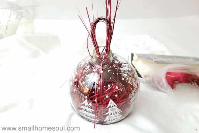 Easy Ornament Updates with tinsel.