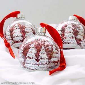 Easy ornament updates for a quick gift.