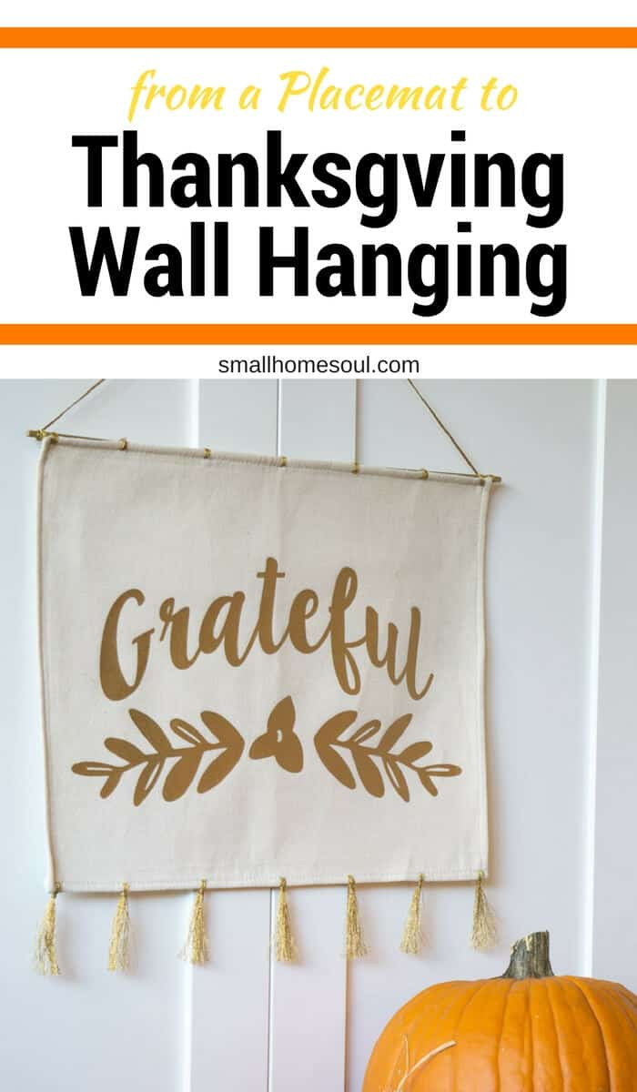 This Grateful Wall hanging started out as a placemat.