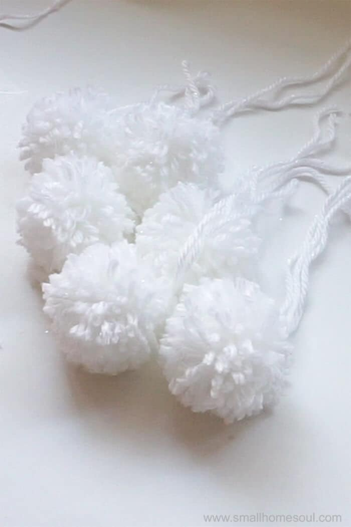 Done making perfect pom poms for my project.