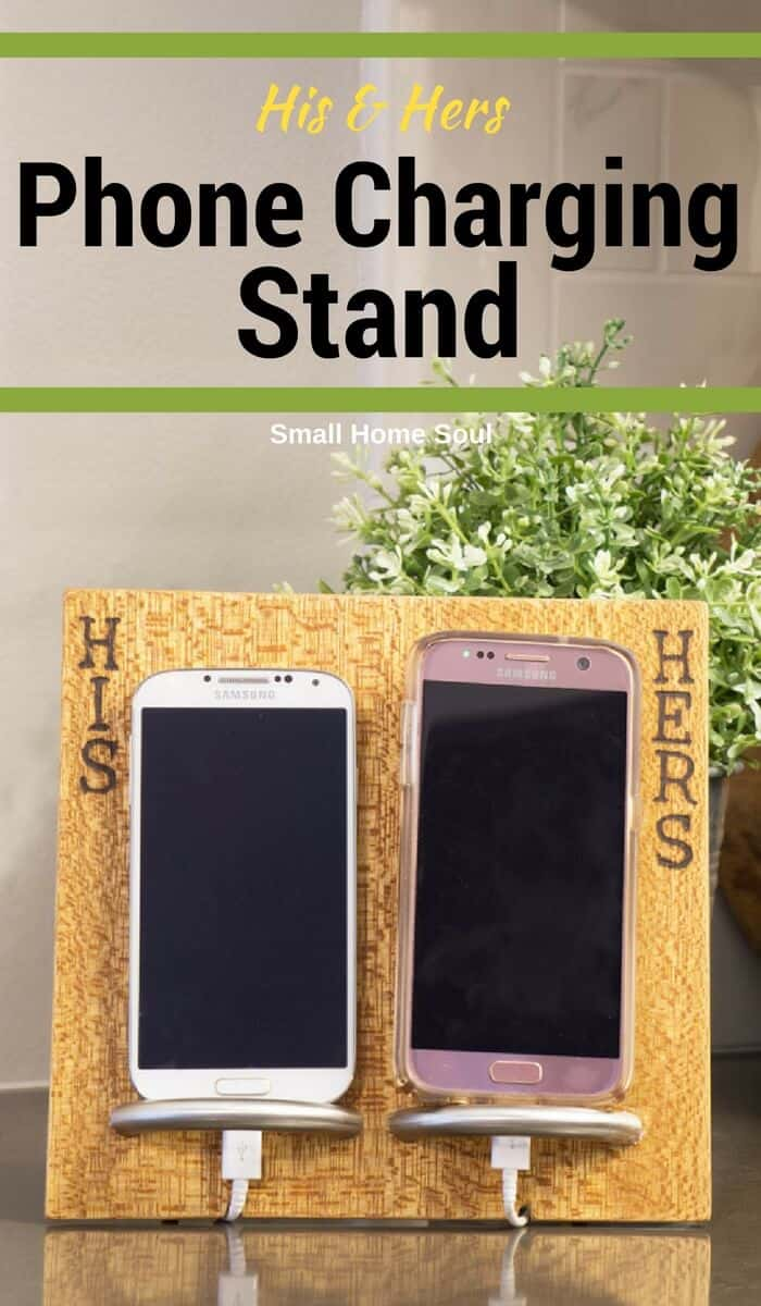 Make this cell phone charging stand and get organization around your cords.