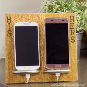 His&Hers Phone Charging Stand on Counter
