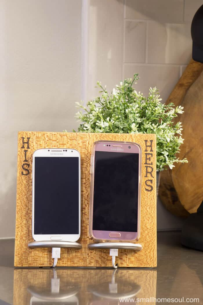 His & Hers Phone Charging Stand hides ugly cords