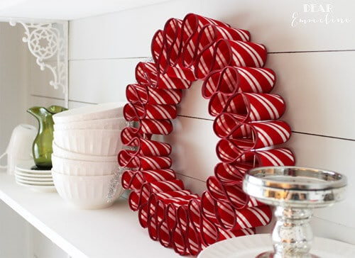 Red Christmas Decor Wreath by Petal and Ply.