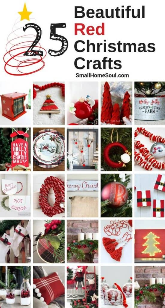 Red Christmas Decor Roundup - 25 Beautiful Projects.