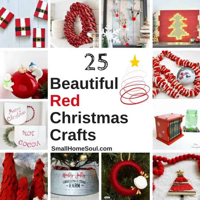 Red Christmas Decor Roundup, 25 beautiful crafts.