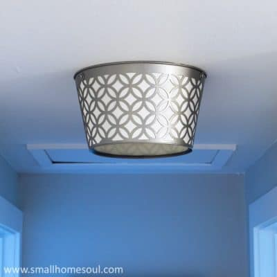 This DIY boob light replacement looks stunning in our hallway.