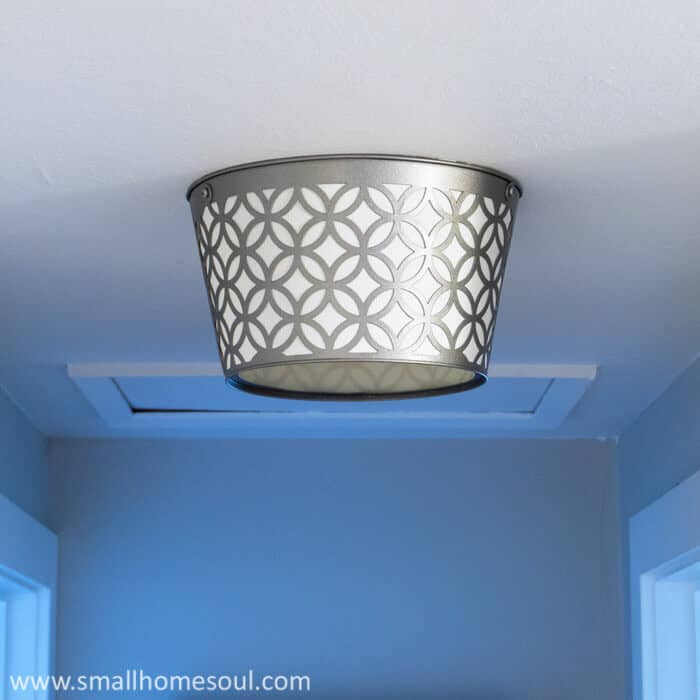 This Diy Light Replacement Looks Stunning In Our Hallway
