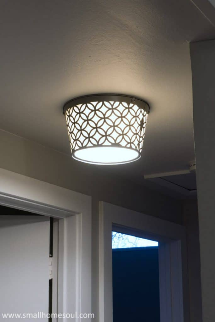 No more boob light with this stylish DIY ceiling light.