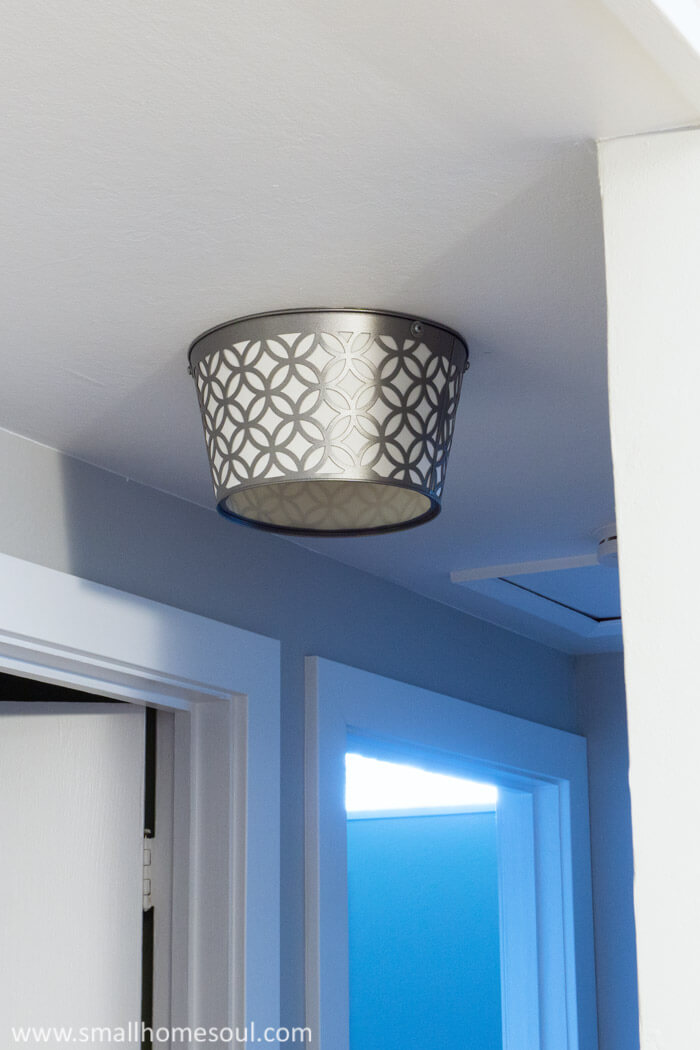 No more boob light; now it's just a stylish DIY ceiling light.