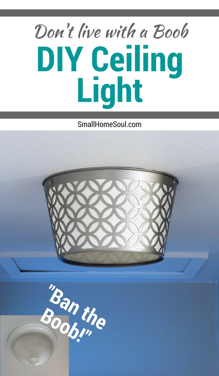 Ban the boob light with this DIY ceiling light makeover.