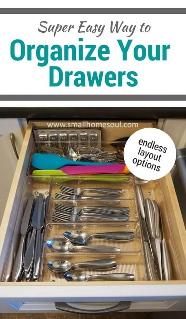 Get your kitchen drawer organization done quickly and easily with these bins.