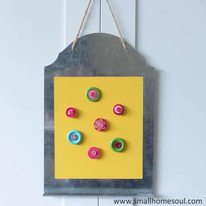 Cute magnetic memo board is ready to hold all your notes.