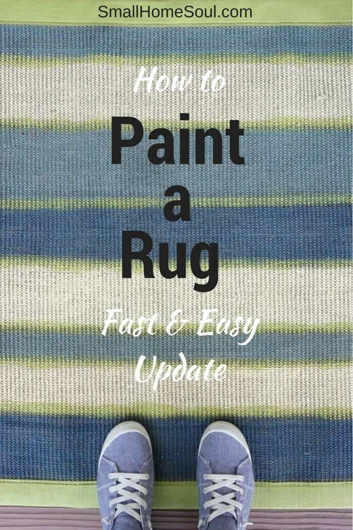 It's fast and easy to paint a rug and give it new life.