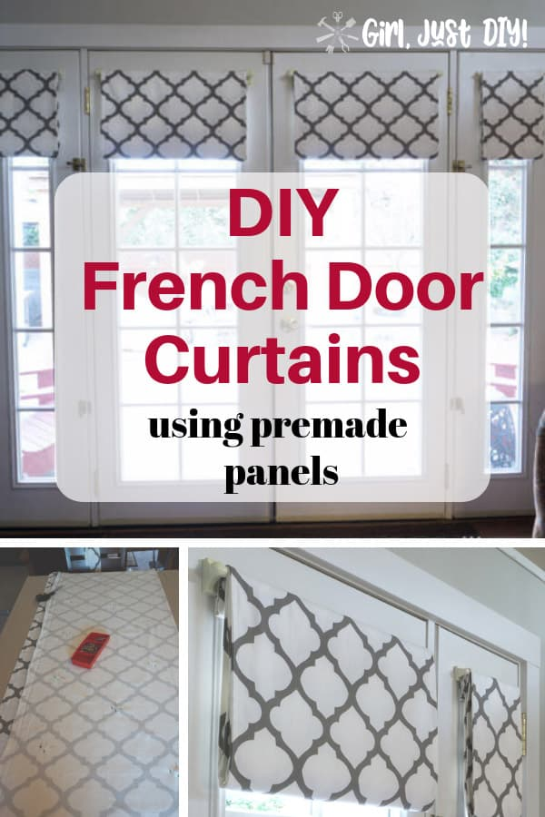 Collage of French Door Curtain pictures with text overlay