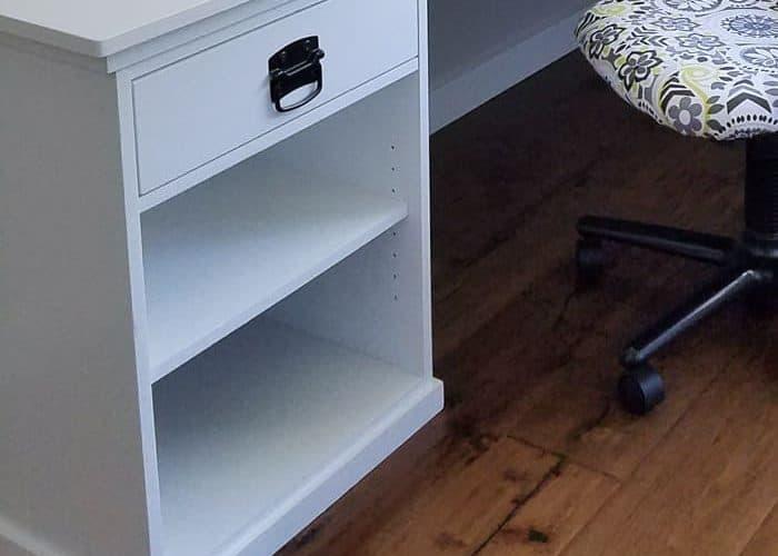 DIY L Shaped Desk – One Room Challenge Week 4