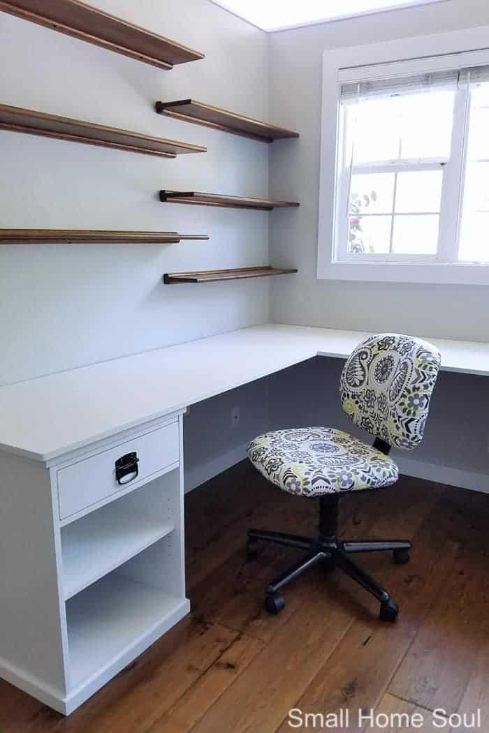 Finished DIY L Shaped Desk.