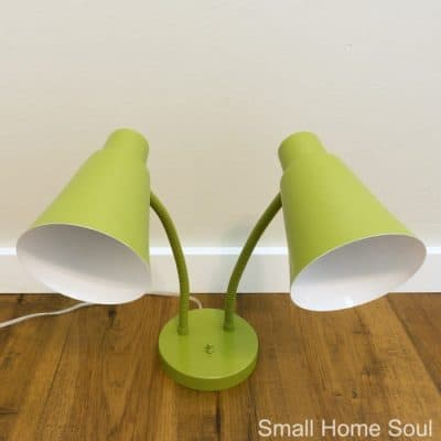 Desk Lamp Makeover beautiful and unexpected color.