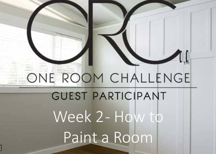How to Paint a Room – One Room Challenge Week 2