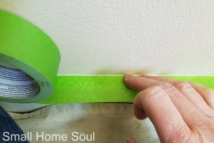 Tape the trim before you paint a room.