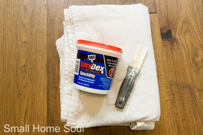 To paint a room you need spackle and a putty knife for patching.