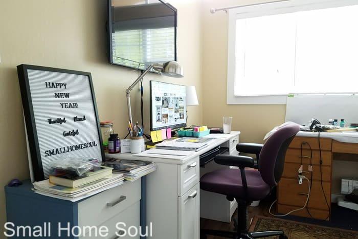 Current desk before my office makeover begins.