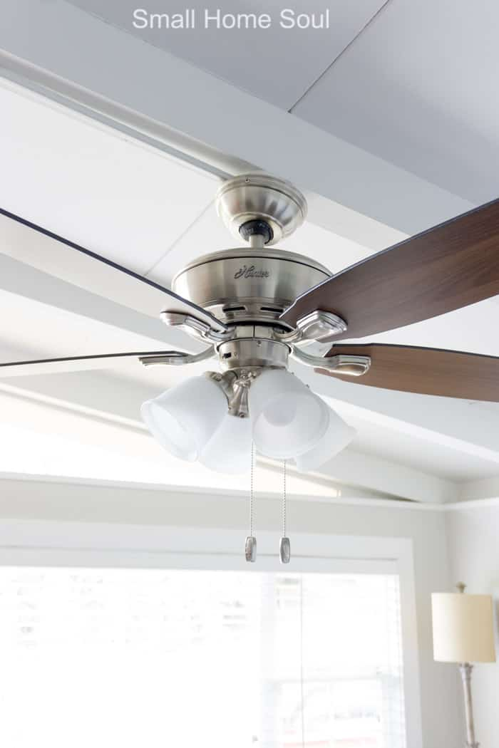 New ceiling fan for office makeover.