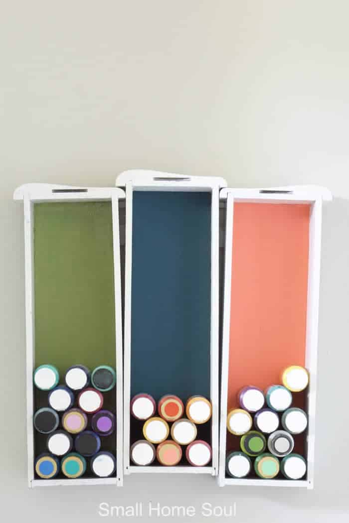Every office makeover needs craft paint storage.