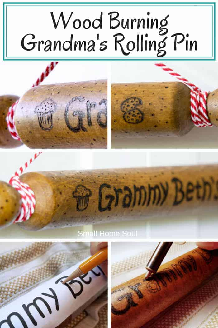 Wooden Rolling Pin for pinterest.