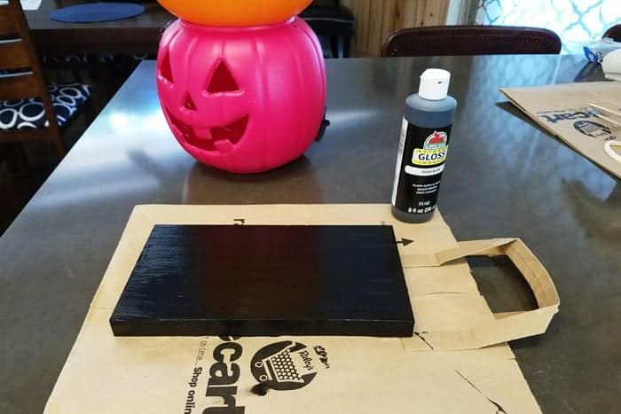 Light up pumpkins getting a solid base painted black.