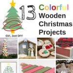 Colorful Wood Christmas Decor